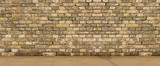Concrete texture background wall with floor