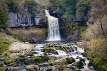 Thornton Force, A Waterfall Near Ingleton In The Yorkshire Dales.