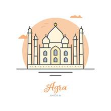 Taj Mahal At Agra, India, Flat...