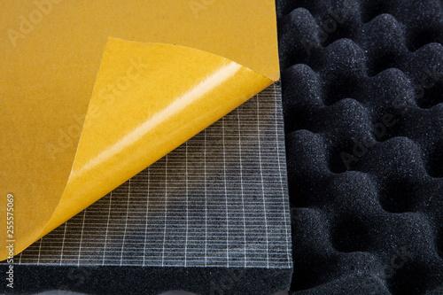 Fotografia, Obraz  The pattern of the soundproof panel of polyurethane foam