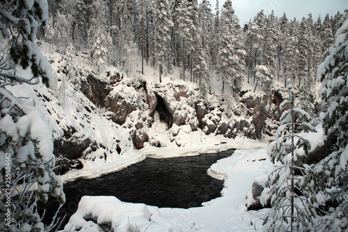 Foto  Scenic Patoniva River view, Oulanka National park, Finland