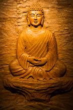 Buddha Carving On Stone.