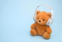 Teddy Bear With Headphones Cop...