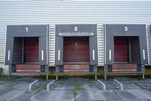 Three Loading Docks  With Red ...