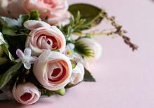 Fake Pink Rose Wreath On A Pin...