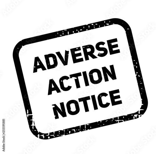 adverse action notice advertising sticker Canvas Print