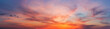 canvas print picture Colorful sunset twilight sky