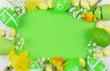 Leinwandbild Motiv Decorazioni di Pasqua con tag vuoto