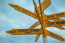 Famous Global Signpost At Bluf...