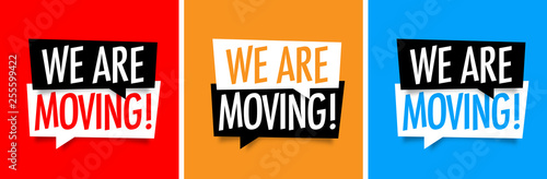 We are moving Fototapete
