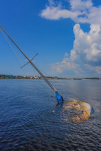 Sunken Sailboat In Florida In ...