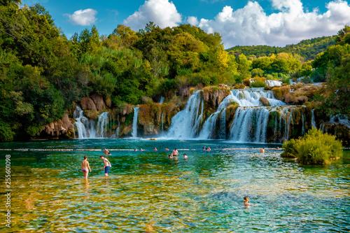 Obraz KRKA Waterfalls, krka national park Croatia - fototapety do salonu