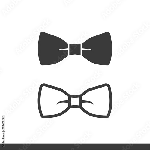 Carta da parati bow tie icons filled and lined style