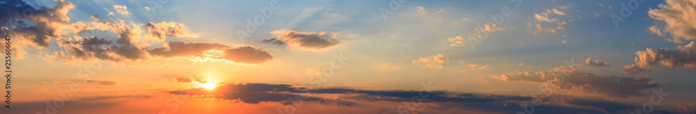 Fototapety, obrazy: Summer sunset sky panorama