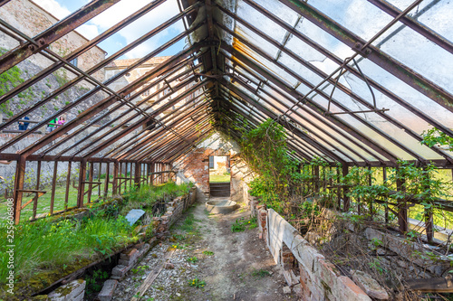 Photo  Look to old ruined greenhouse