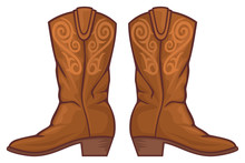 Cowboy Boots Vector Illustration