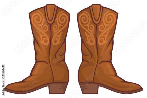 Photo cowboy boots vector illustration