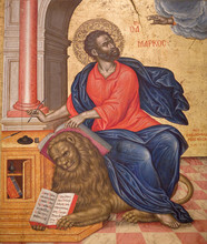 Ancient Painting With St. Mark...