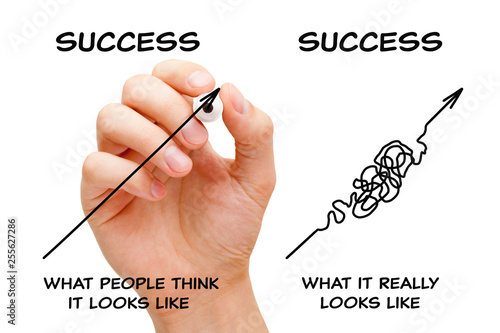 The Path To Success Arrows Concept Wallpaper Mural