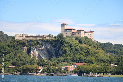 Fototapeta  Rocca d'Angera in Angera view from Arona at Lake Maggiore, Italy