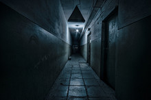 Dark Corridor. Mystical Interi...