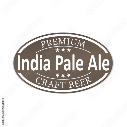 Photo  premium indian pale ale craft beer lable web badge icon