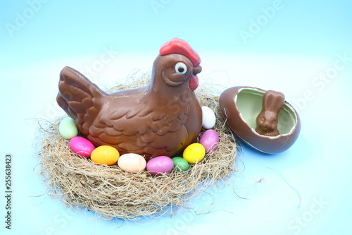 Aluminium Prints Grocery Easter Chocolate Composition