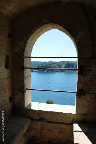 Fotografia, Obraz  Castle Rocca d'Angera in Angera at Lake Maggiore, Italy