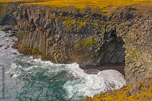 Sea Cave on a Rugged Coastline