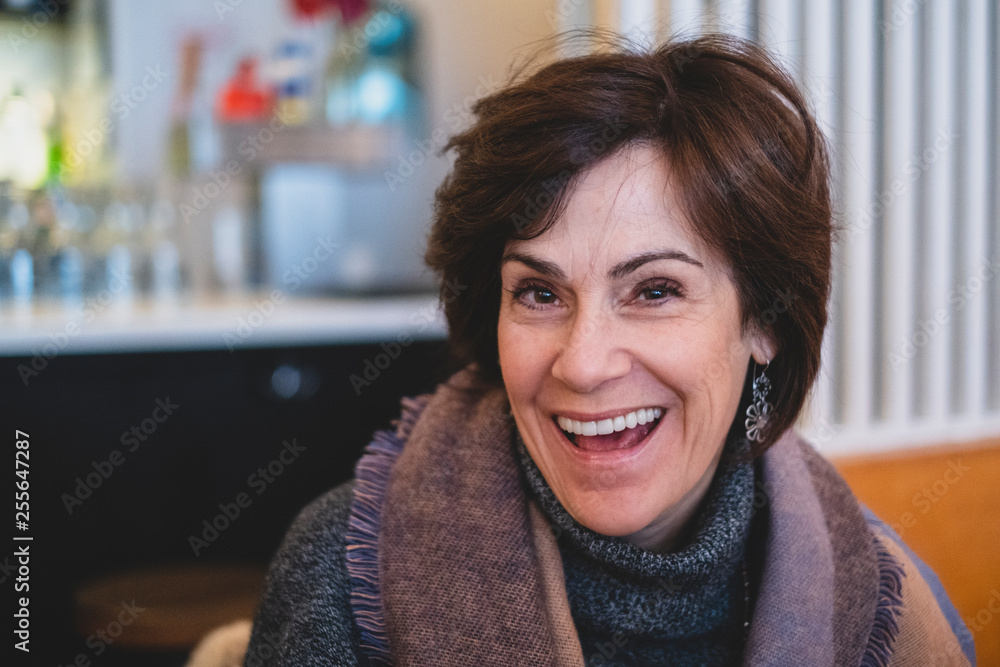 Fototapety, obrazy: Happy beautiful middle aged woman
