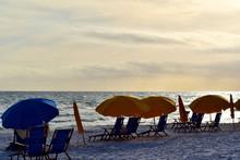 Beach Chairs On Miramar Beach