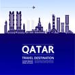 QATAR travel destination vector illustration.