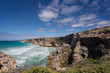 A view of the rugged coastal cliffs at the Great Australian Bight.