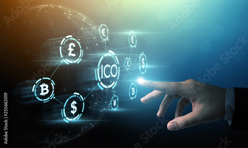 Fotografía  ICO Initial coin offering business financial internet innovation technology conc