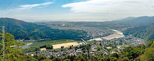 Fotografering 岩国城からの岩国市の眺望