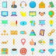 Finance company icons set. Cartoon style of 36 finance company vector icons for web for any design
