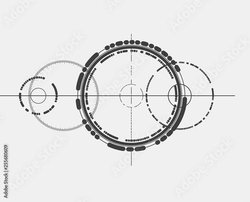 Vászonkép Abstract design element in constructivism style