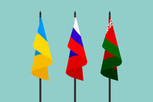 National Flags Of Russia, Ukra...