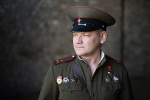 Officer Of The Soviet Army.  H...