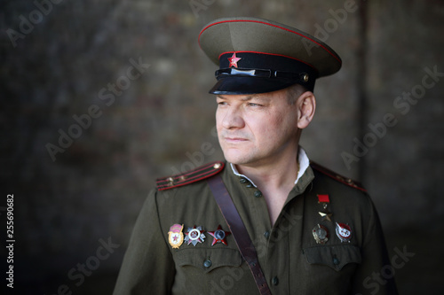 Officer of the Soviet army Fototapete