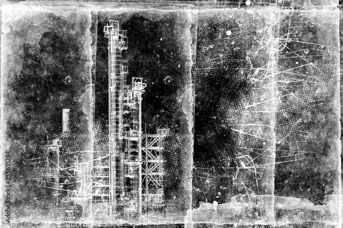 Fotografie, Obraz  Apocalyptic landscape of city