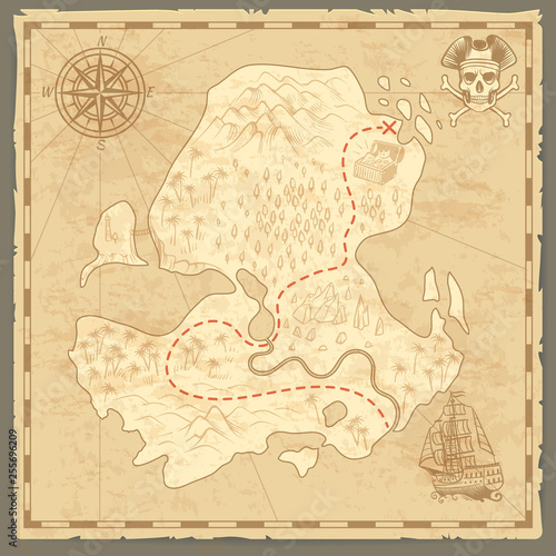 Treasure Island Map Retro Wallpaper Vintage Islands Map