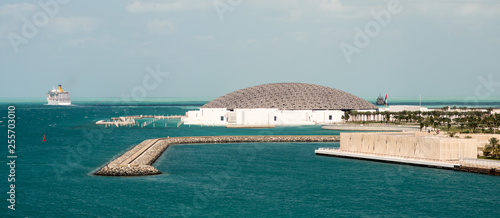 Louvre museum of Abu Dhabi surrounded by water Poster Mural XXL