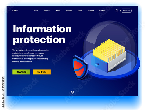 Website providing the service of information protection
