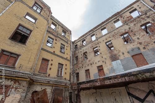 Papiers peints Les vieux bâtiments abandonnés Abandoned building Ruins o the living Apartments