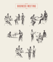 Set People Sketches Business M...