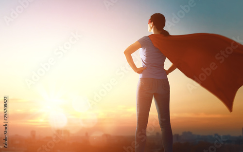 Fotomural  woman in superhero costume