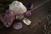 Selection Of Crystals And Ston...