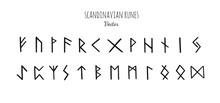 Magic Scandinavian Runes. Old Futhark. Vector Hand Drawn Calligraphy