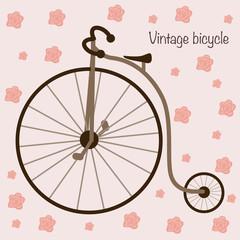 Fototapeta Sport vintage bicycle - vector illustration, eps
